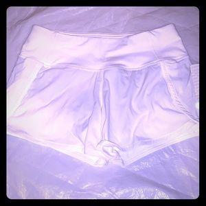 Brand new Lululemon white yoga shorts